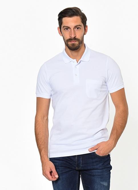 Morven Polo Yaka Tişört Beyaz